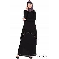 C  Cut Abaya- Black