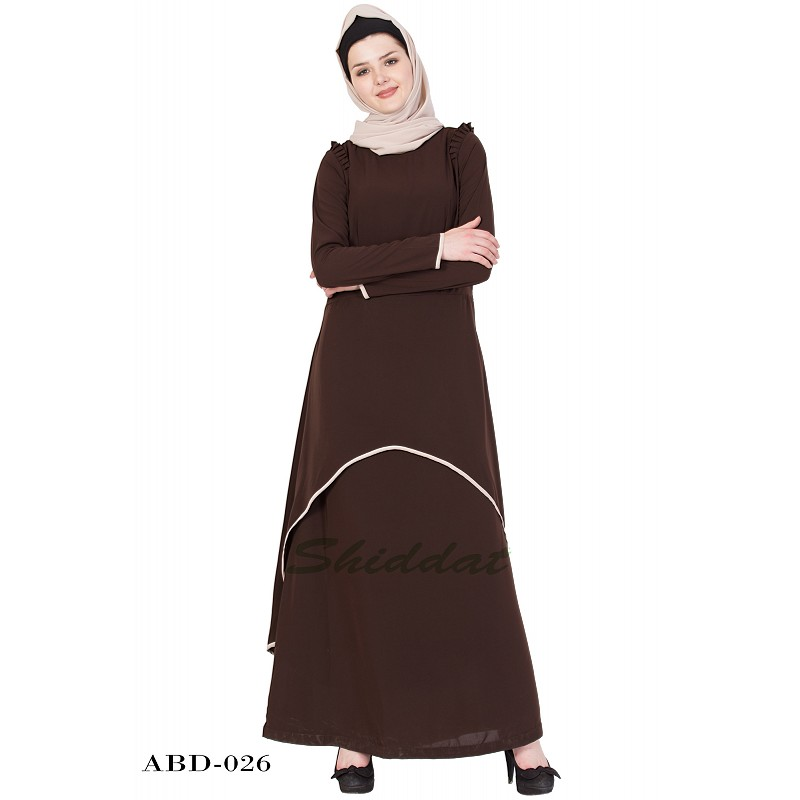 e9e8690496b7 Abaya dress online in India- Coffee Brown