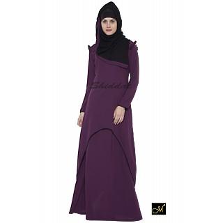 C  Cut Abaya- Violet