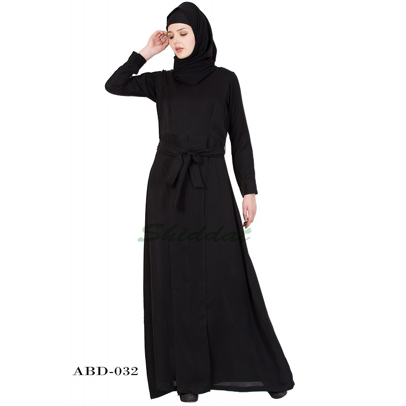 54194ee4d255 Abaya online in India- Islamic dress in black color for women