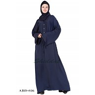 Designer loose fitting abaya in Navy Blue color