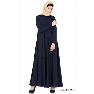 Casual abaya- Navy-Blue