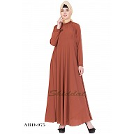 Casual abaya- Rust color