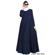 A beautiful simple umbrella abaya- Navy blue