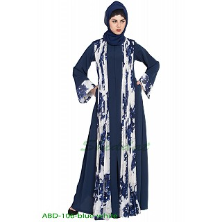 Front open abaya with attached shawl