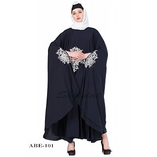 Irani kaftan with embroidery - Navy Blue