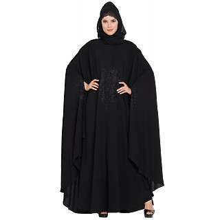 Irani kaftan with embroidery work- Black