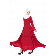 Umbrella cut abaya- Red