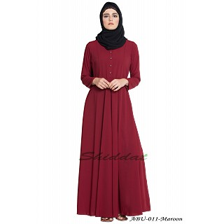 Umbrella cut abaya- Maroon