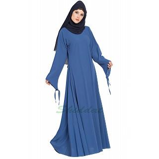Umbrella abaya with designer sleeves