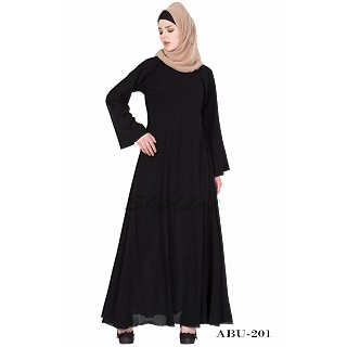 Umbrella cut abaya- Black