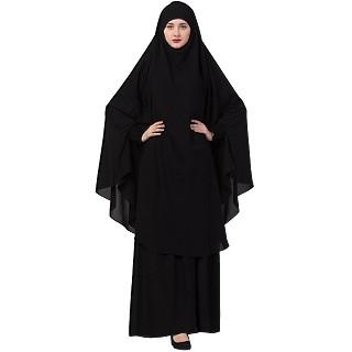 Islamic Burqa-Khimar combo- Black