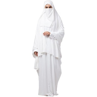 White kaftan and Irani Chadar combo