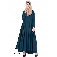 Umbrella abaya- Rama Green