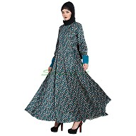Printed Umbrella abaya
