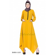 Asymmetrical Dress - Mustard Yellow