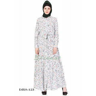 Dress Abaya-Sea Green