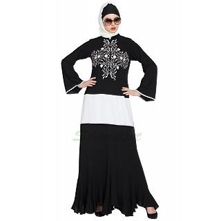 Designer embroidered abaya