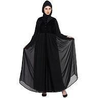 Designer Bridal abaya- Black