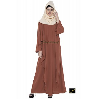 Designer abaya in rust color