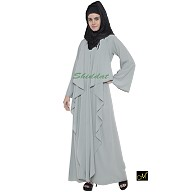 Designer abaya in sea green Color
