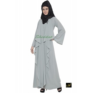 Designer abaya in sea green fabric