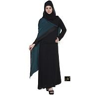 Designer abaya - Black and Midnight Blue Color