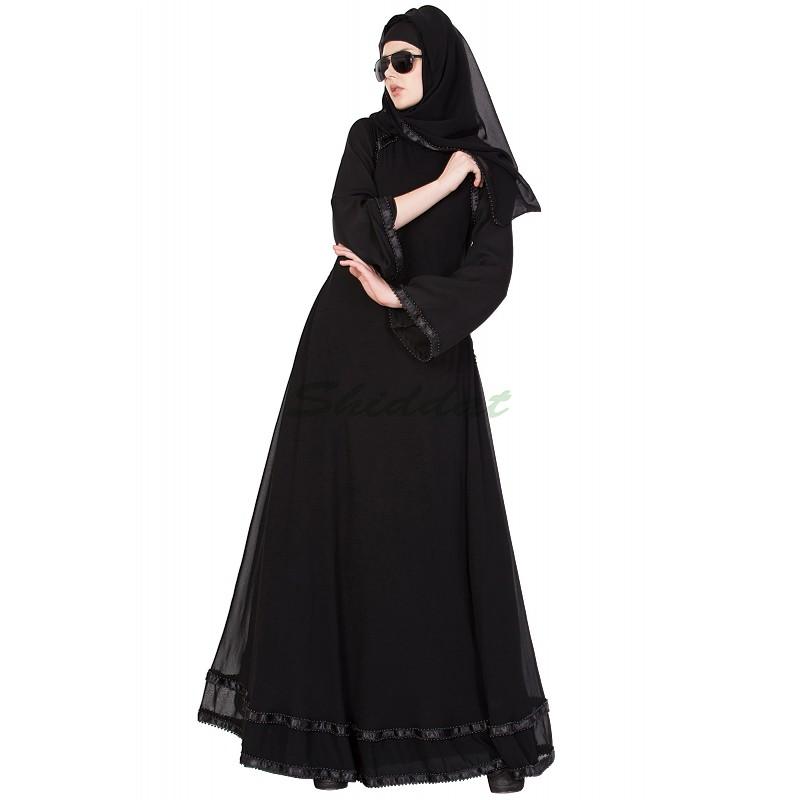 Buy Designer Abaya Online In India Black Color