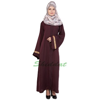 Loose Fit Abaya- Dark Burundi