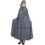 Loose Fit Abaya- Porpoise  Grey
