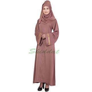 Loose Fit Abaya- Oriental Pink