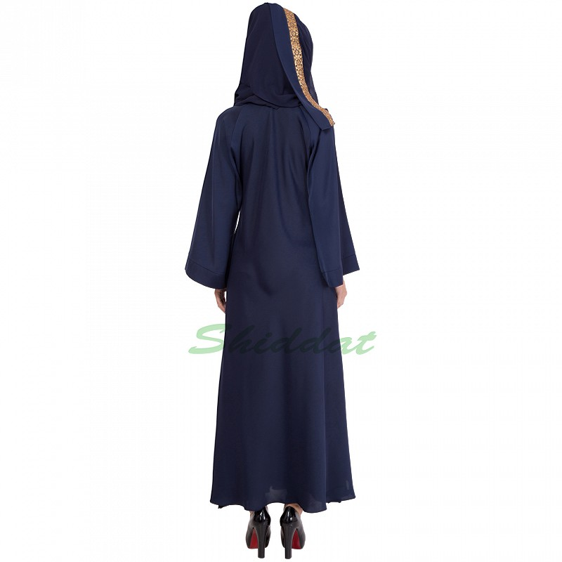 Umbrella Abaya In Navy Blue Color Online In India At Www