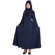Navy Blue abaya- Umbrella cut