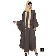 Kaftan Abaya - Brown and Beige