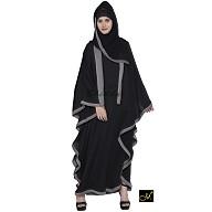 Kaftan Abaya- Black-Grey