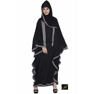 Kaftan Abaya - Black and Grey
