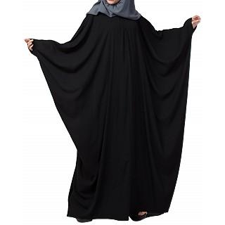 Kaftan abaya with pleats- Black