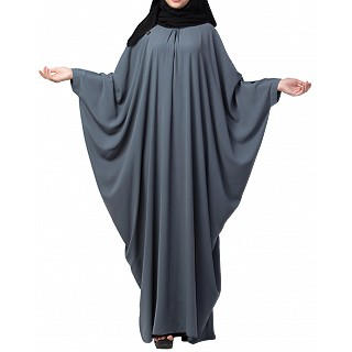 Kaftan abaya with pleats- Grey