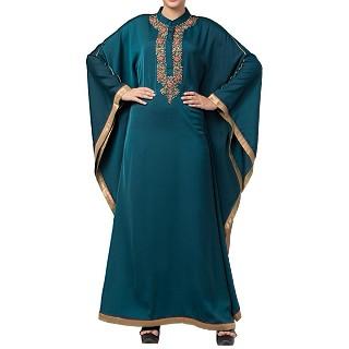 Royal Nida Kaftan Dress- Green