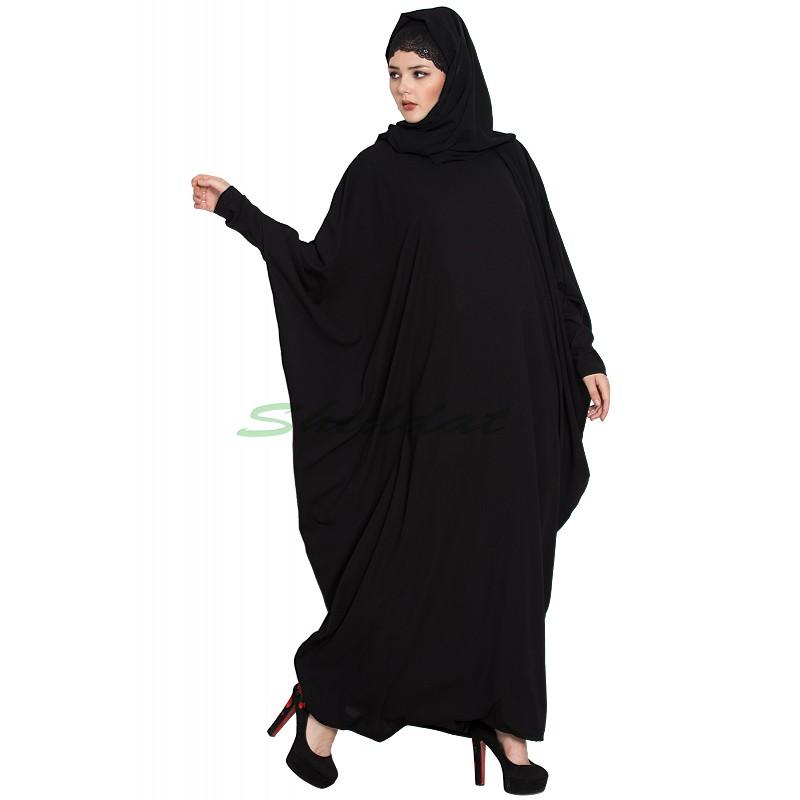 33164e3673bc6 Free size kaftan abaya- Black