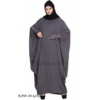 Free size kaftan abaya- Grey