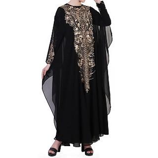 Designer Bridal abaya with Embroidery work