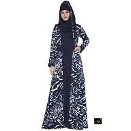 Shrug Abaya- Navy blue Print