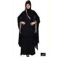 Designer Kaftan abaya- Black
