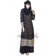 A-Line Scale Double Layer Dual Cloth Abaya