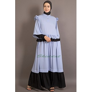 New Arrivals  Abaya - Contrast frilled  Abaya