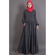 Bohemian abaya with balloon sleeves