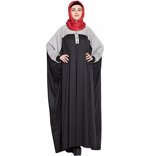 Dual Color Kaftan in Polyester Knits