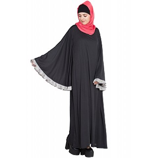 A-Line with Butterfly Sleeve abaya