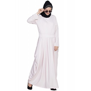 Pleated travel maxi dress- Light-Pink color
